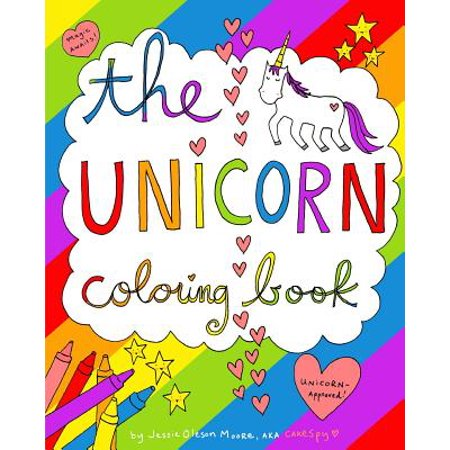 The Unicorn Coloring Book (Paperback) - Pin The Horn On The Unicorn
