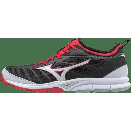 2e70cc13277 Mizuno Players Trainer 2 Baseball Shoes Size 10.5 Black Red - Walmart.com
