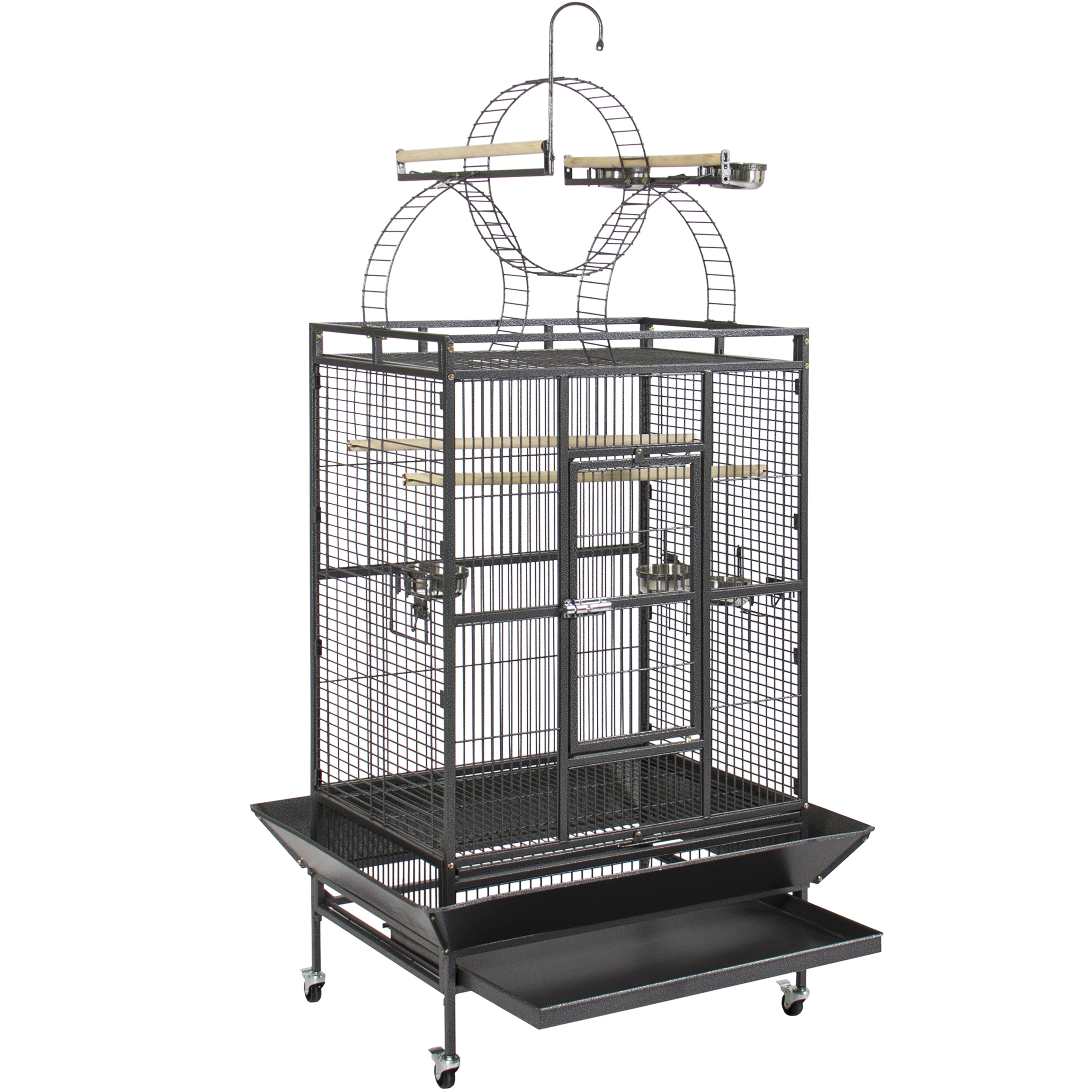 Best Choice Products Large Parrot Bird Flight Finch Macaw Cage Pet Supply Aviary House w/ Free Toy - Black