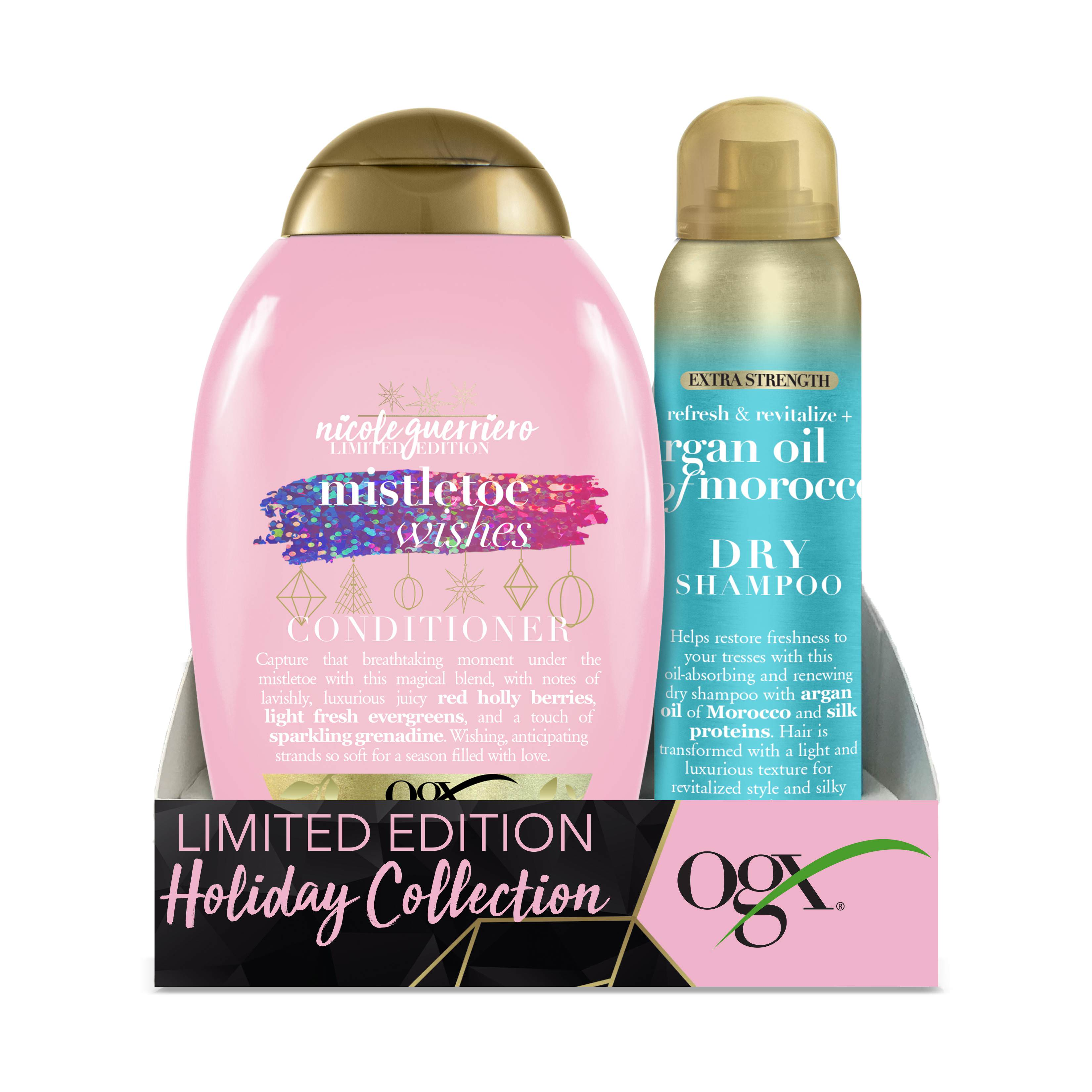 Ogx Mistletoe Wishes Conditioner & Argan Oil Of Morocco Extra Strength Dry Shampoo Holiday Set ($10.96 Value)