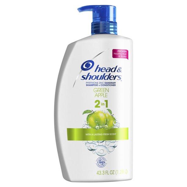 Product Of Head And Shoulders Green Apple Anti Dandruff 2 In 1 Shampoo And Conditioner 43 3 Fl Oz Walmart Com Walmart Com