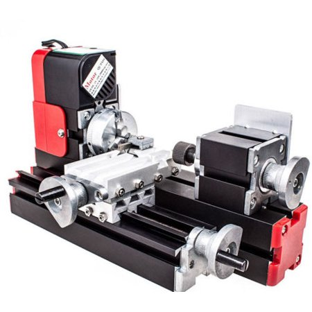 DIY Tool Metal Motorized Mini Lathe Machine