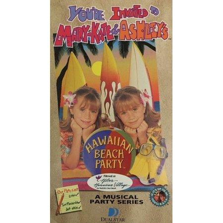 Youre Invited to Mary Kate & Ashleys Hawaiian Beach Party Vhs-TESTED-VERY RARE (Mary Kate Ashley Halloween)