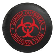 Universal Spare Tire Cover - Zombie Red Logo (Large) (Fits Tire Diameter: 29.5 - 32.5 Inch)