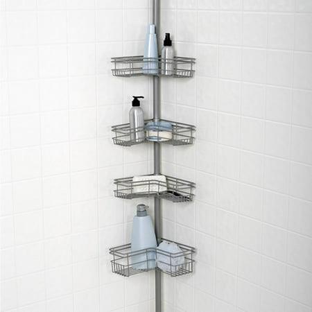 Tension Shower Caddy Nickel Walmart Com