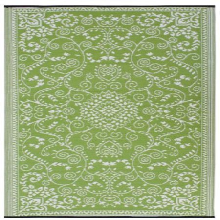Fab Habitat Murano Recycled Plastic Rug, Lime Green & Cream, (3' x 5') (Rug Recycled)