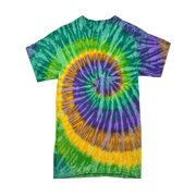 Tie Dye T-shirts Swirl Multi Colors Adult S to 5XL 100% Cotton