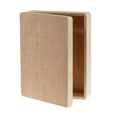 "Unfinished Wood Memory Box Hinged, 12"" x 9.125"" x 3.25"