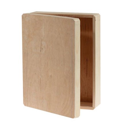Unfinished Wood Memory Box Hinged, 12
