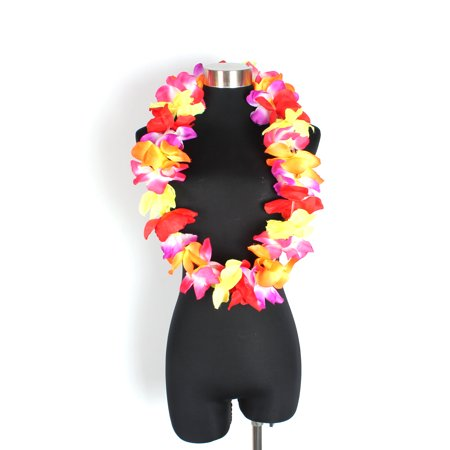 Hawaiian Hawaii Hula Luau Flower Lei for Festival Birthday Party Wedding, Rainbow Plumeria - Hawaiin Leis