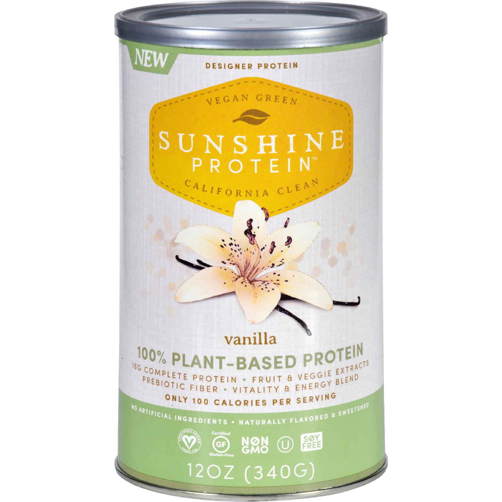Sunshine Protein Shake Mix - Plant-Based - Vanilla - 12 oz