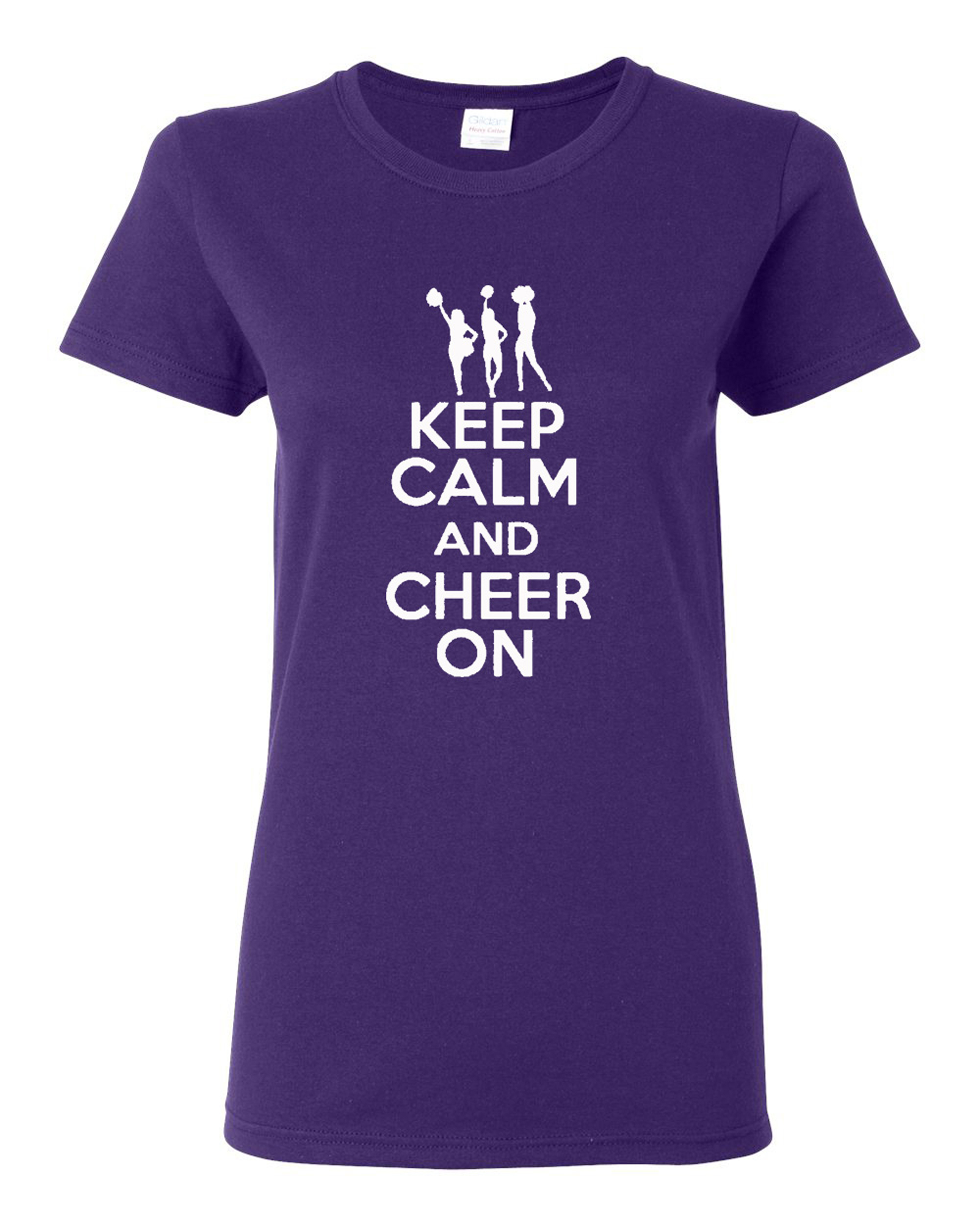 Ladies Keep Calm and Cheer On T-Shirt Tee