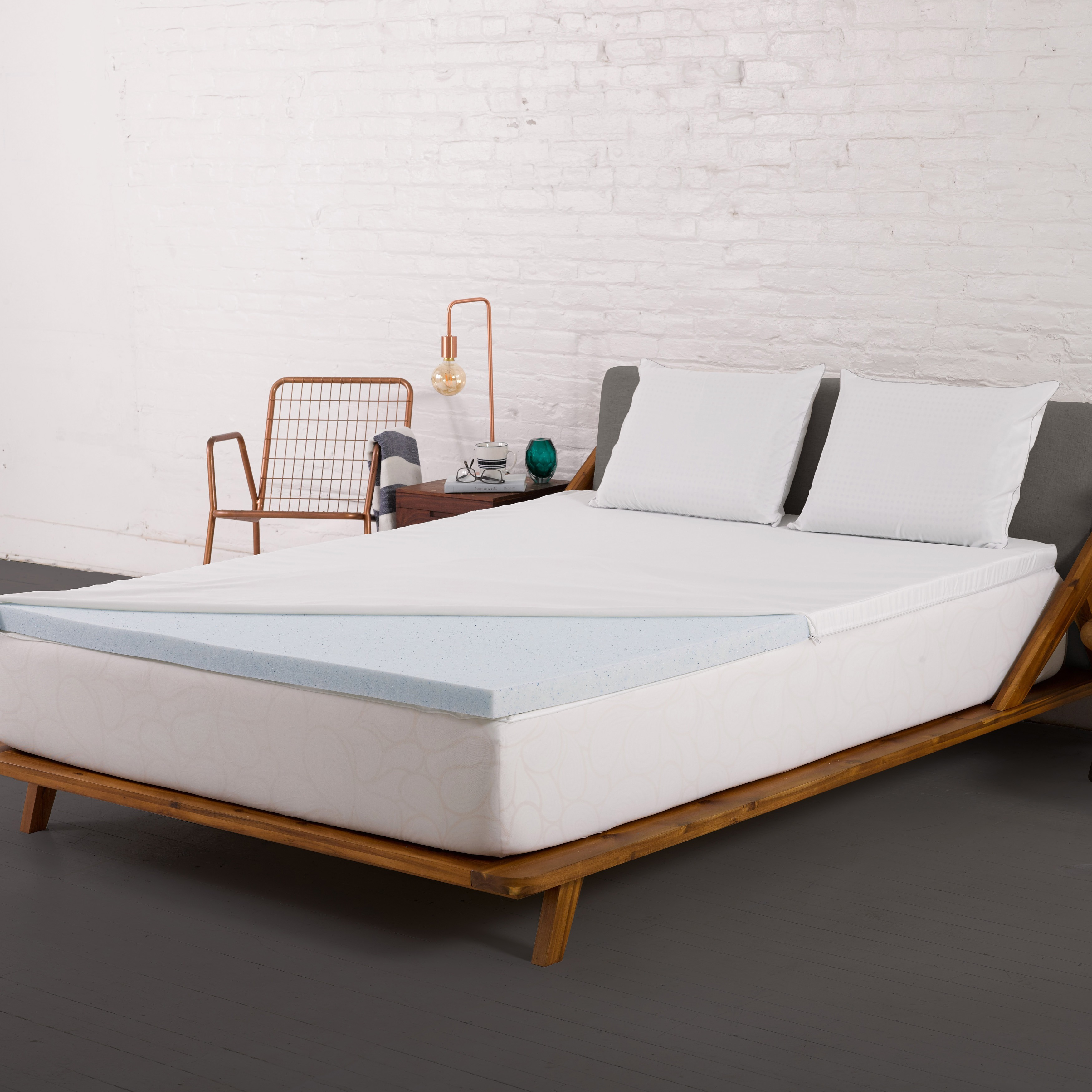 Authentic Comfort  2-inch Gel Memory Foam Mattress Topper with Cooling Cover