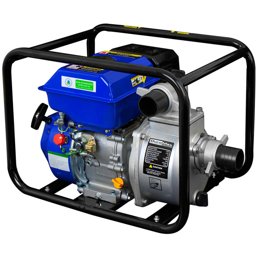 "DuroMax Portable 4"" Water Pump 9.0 Hp Gasoline Engine"
