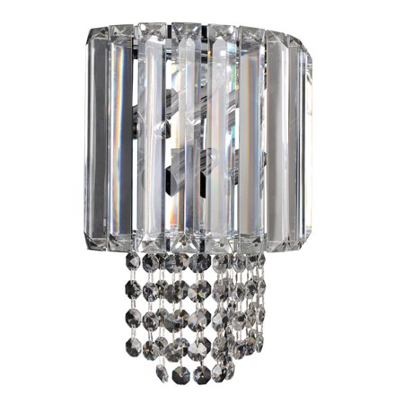 02 Candelabra (Wall Sconces 2 Light Bulb Fixture With Chrome Finish Candelabra Bulb 8