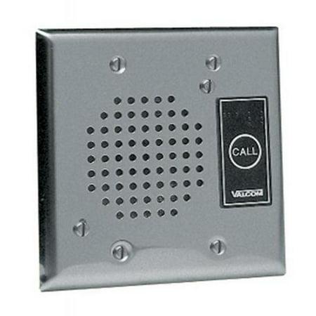 Talkback Doorplate (VALCOM V-1072A-ST Talkback Doorplate Speaker - Stnless)