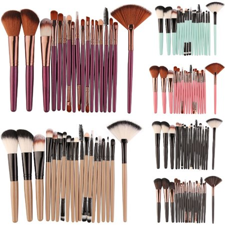 18Pcs Pro Makeup Brushes Cosmetic Tool Powder Foundation Make Up Brush Set Women Best (Best Makeup For Women Over 55)