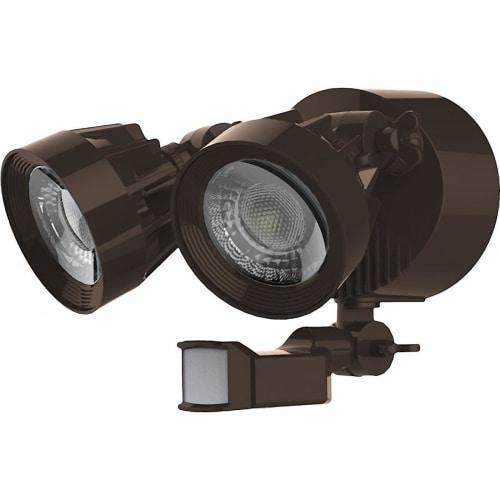 NUVO Lighting 24W Dual Head Security Light Fixture Bronze with Motion Sensor