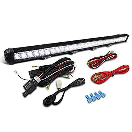 "1x 40"" 90W 30-LED Combo Beam Roof Work Light Bar Truck SUV 4X4 6000K+Wiring Kit"