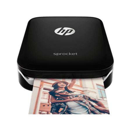 (HP Sprocket Portable Photo Printer, Print Social Media Photos on 2x3 Sticky-Backed Paper - Black (X7N08A))