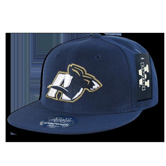 W Republic College Snapback Akron University, Navy