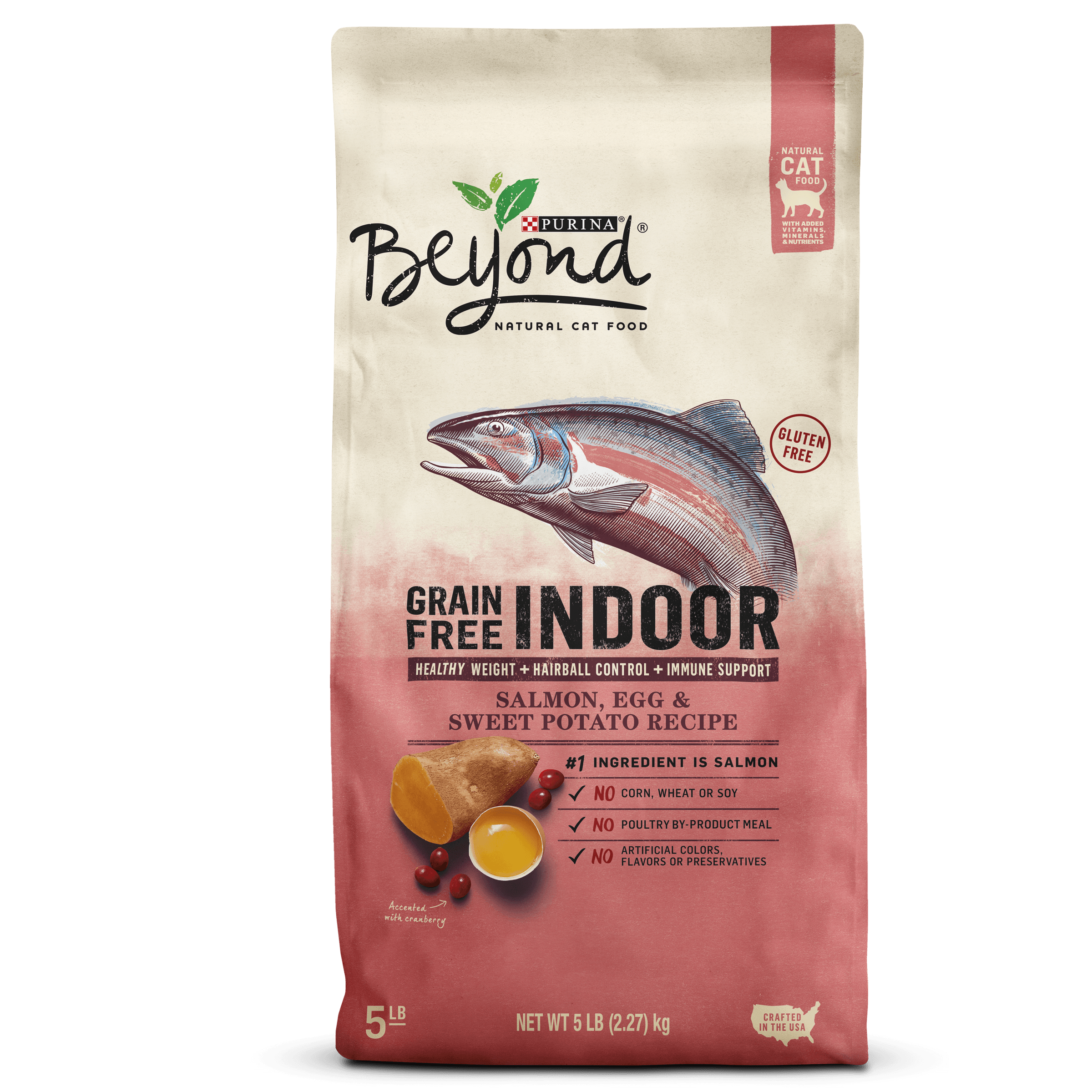 Purina Beyond Indoor Grain-Free Salmon, Egg & Sweet Potato Dry Cat Food (Various Sizes)
