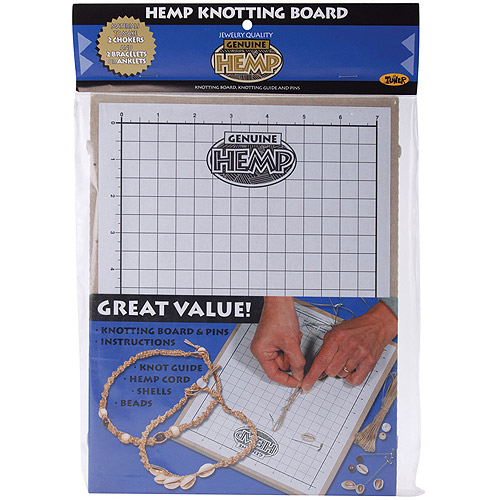 Toner Hemp Knotting Board, 11 by 8.625 by 0.5-Inch Multi-Colored