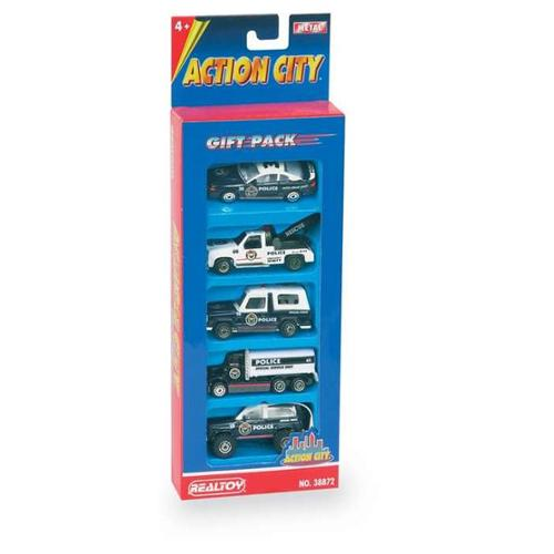 Daron Police Department Vehicle Gift Pack, 5-Piece