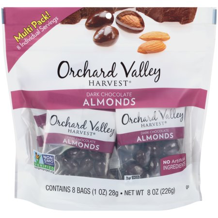 Orchard Valley Harvest  Dark Chocolate Almonds 8 1 Oz  Bags
