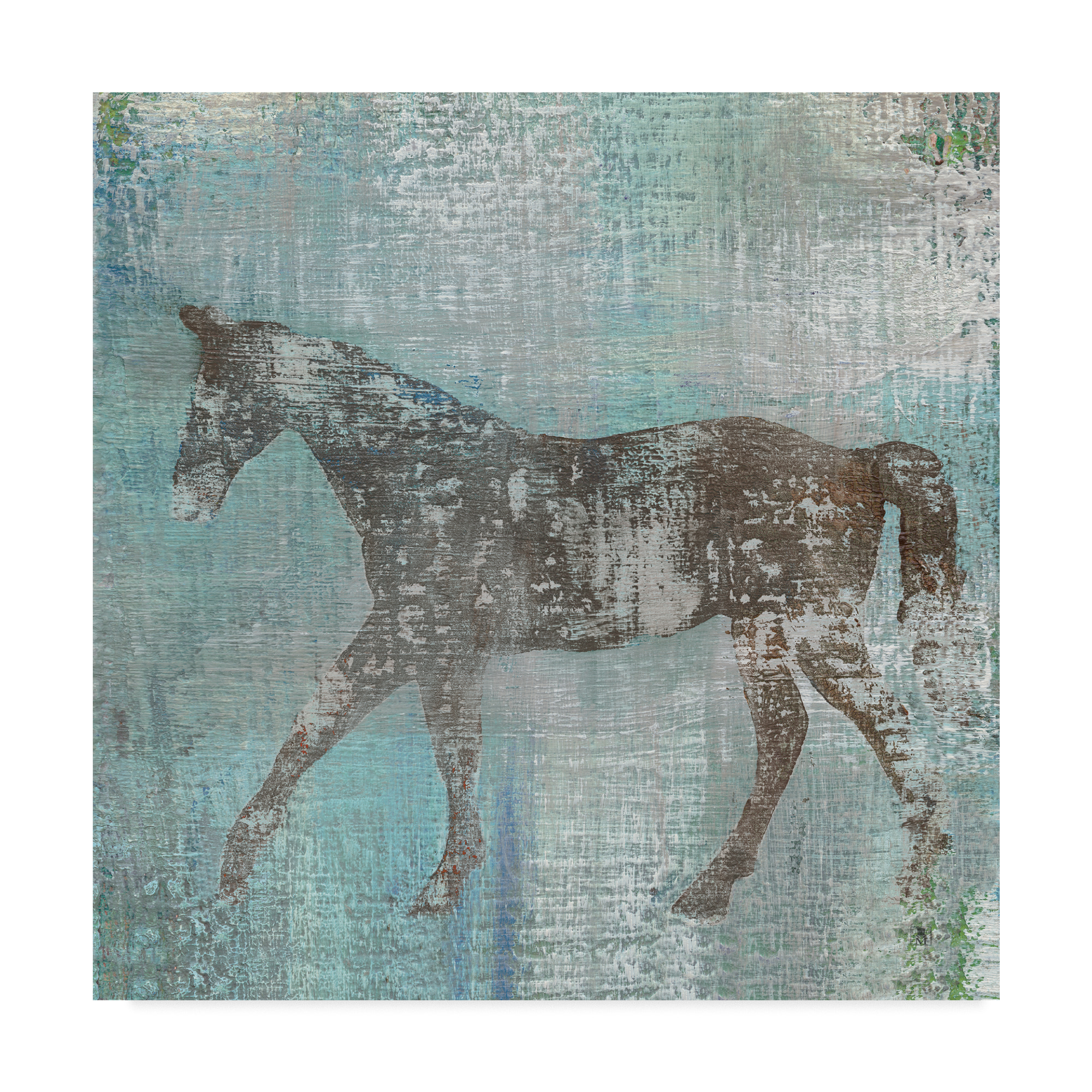 Trademark Fine Art 'Cheval I Flipped Brown' Canvas Art by Studio Mousseau
