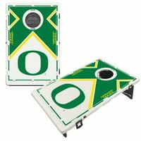 Oregon Ducks 2' x 3' BAGGO Vintage Cornhole Board Tailgate Toss Set - No Size
