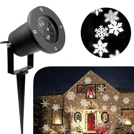 koot christmas light halloween snowflake decorations outdoor waterproof led light projector white moving snowflake for