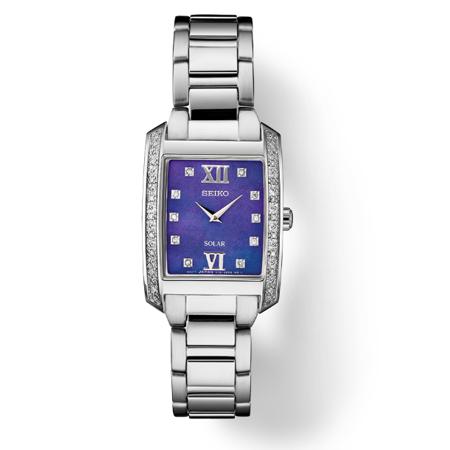 Seiko Women's Diamond Accent Stainless Steel Solar Watch SUP401