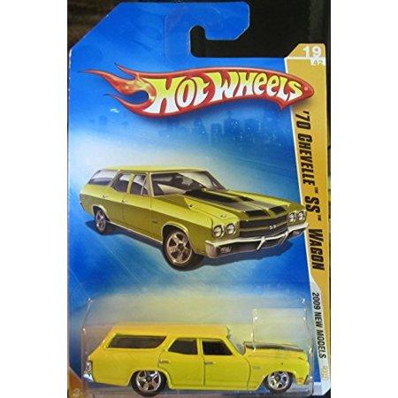 Hot Wheels 2009 New Models Yellow '70 Chevelle SS Wagon 019190