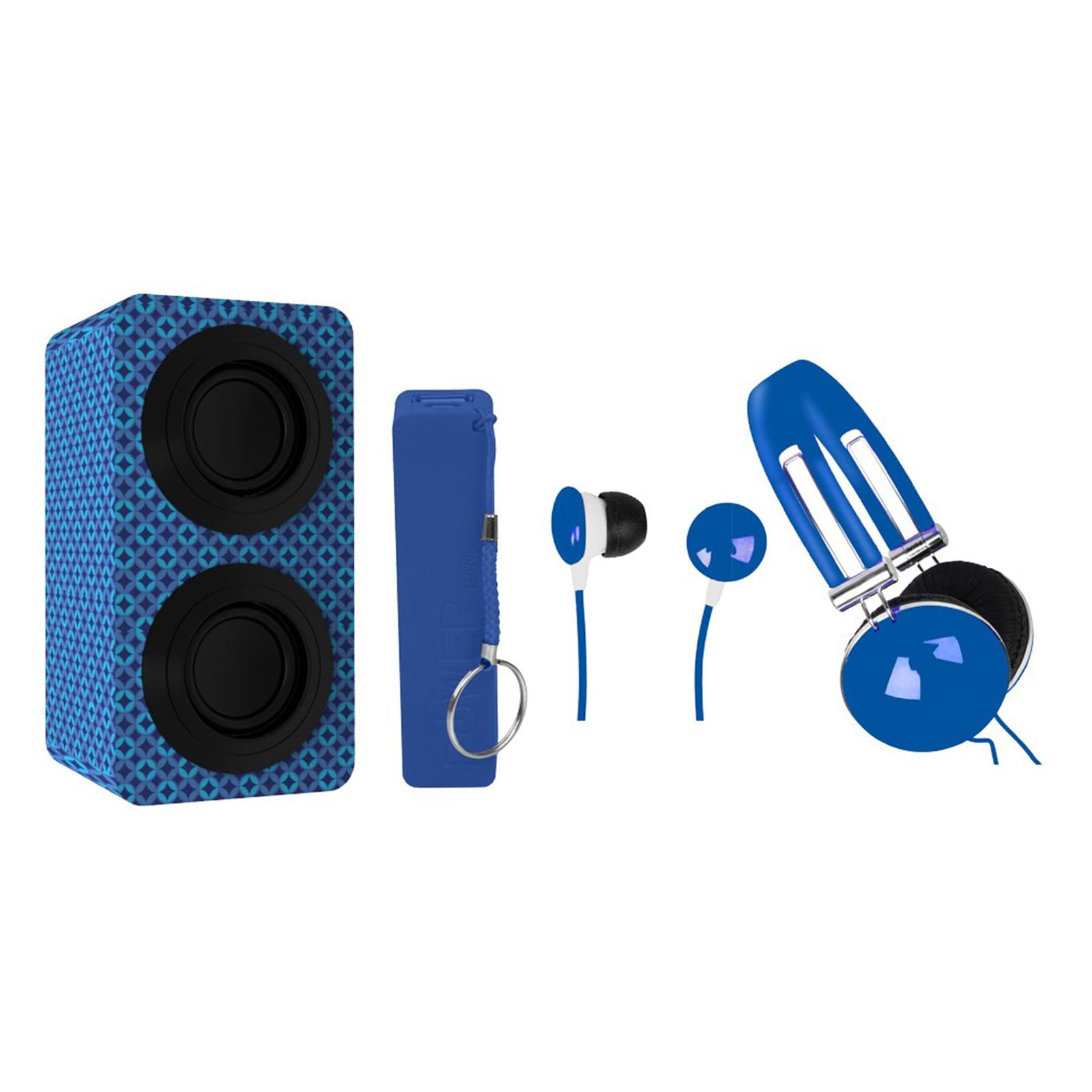 Portable BT Stereo Speakers Entertainment Pack-BLUE