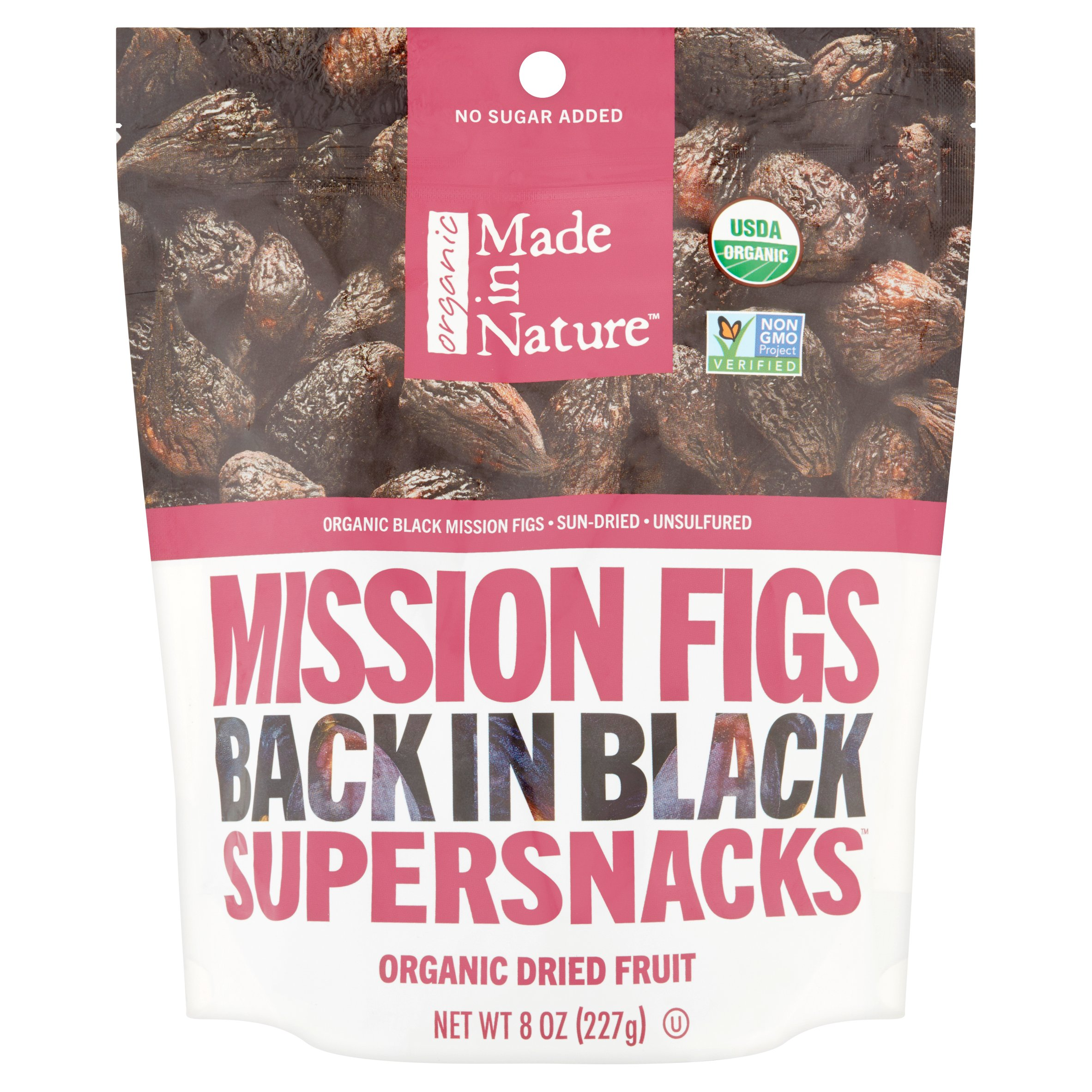 Made in Nature Organic Supersnacks Mission Figs Back in Black Dried Fruit, 8 oz by Made in Nature, LLC.