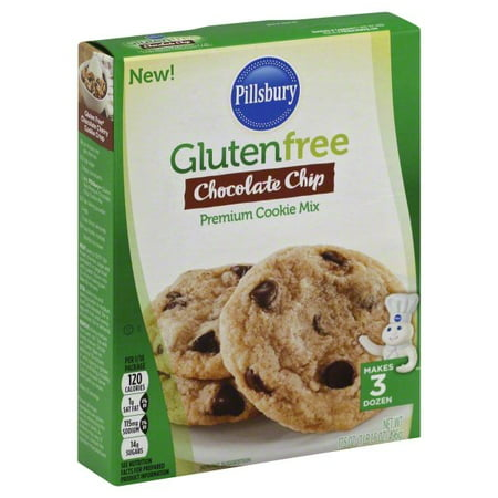 (2 pack) Pillsbury Gluten Free Chocolate Chip Cookie Mix, 17.5oz