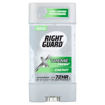 Right Guard Xtreme Antiperspirant & Deodorant Gel, Energy 4 oz(pack of 12)