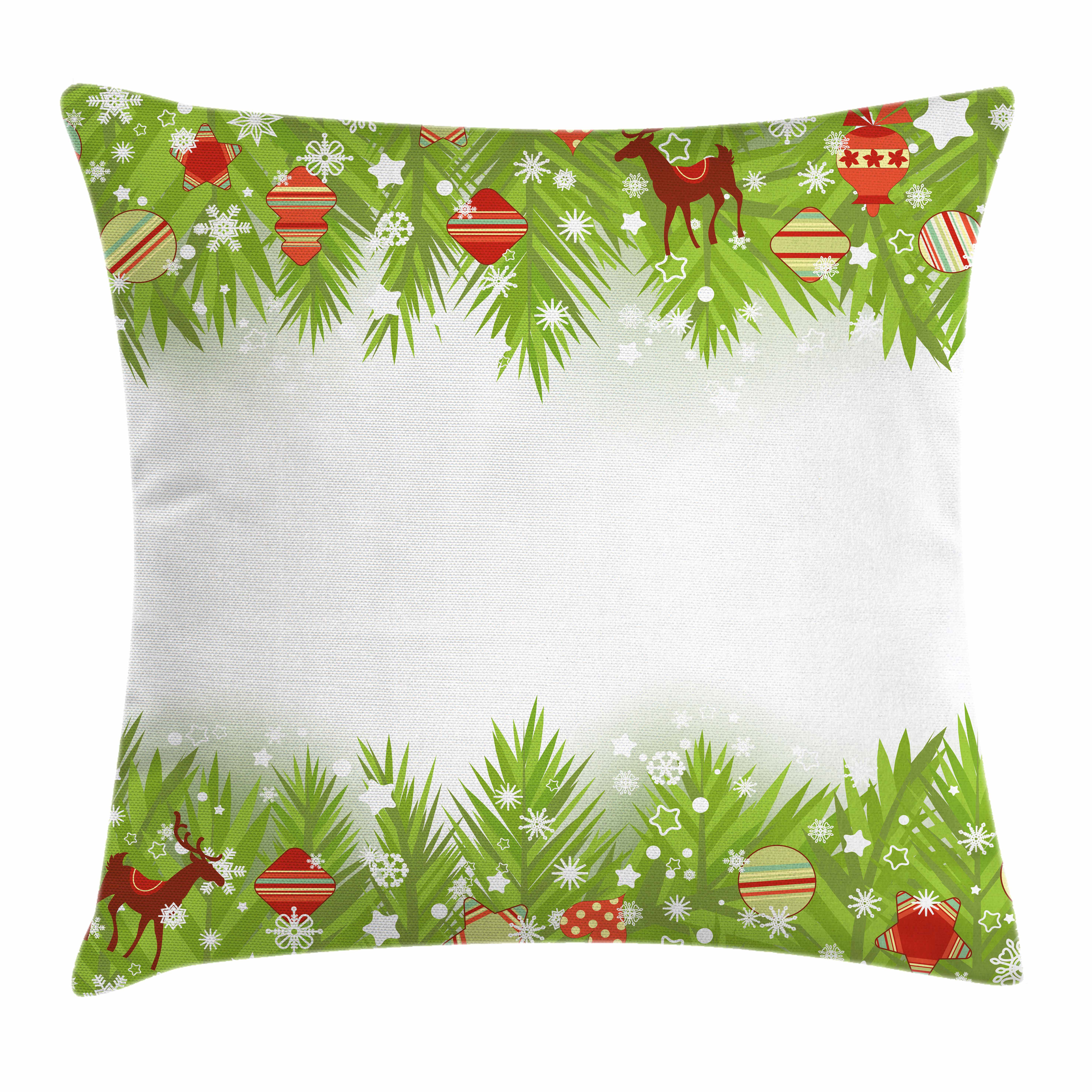 Kids Christmas Throw Pillow Cushion Cover Spruce Coniferous Noel