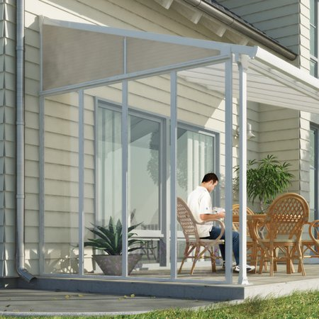 Palram Feria Patio Cover Sidewall Kit 10 White