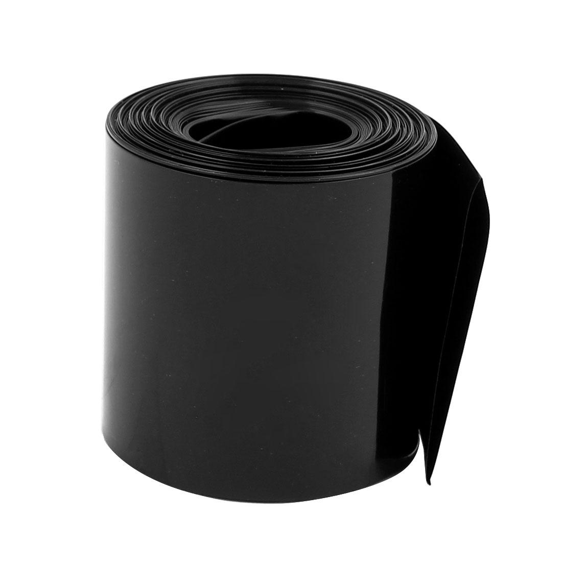 55mm Longueur 2.1 m Largeur Tube thermorétractable PVC noir pour 18650 Pack batterie - image 2 de 2