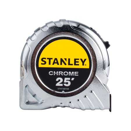 STANLEY STHT30159 25ft Chrome Tape (Fractional Tape Measure)