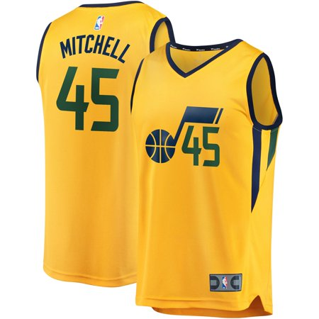 buy popular 47823 72532 Donovan Mitchell Utah Jazz Fanatics Branded Youth Fast Break Jersey -  Statement Edition - Gold