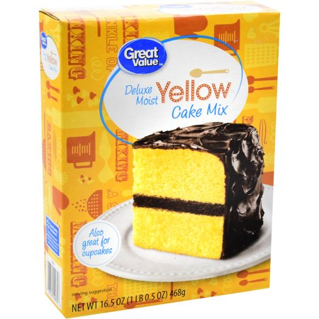 Great Value Cake Mix, Deluxe Moist Yellow, 16.5 oz - Halloween Recipes Using Cake Mix