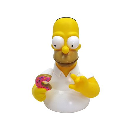 Homer Simpson Bust (The Homer with Donut Bust Bank Action Figure, Made of durable plastic By Simpsons)