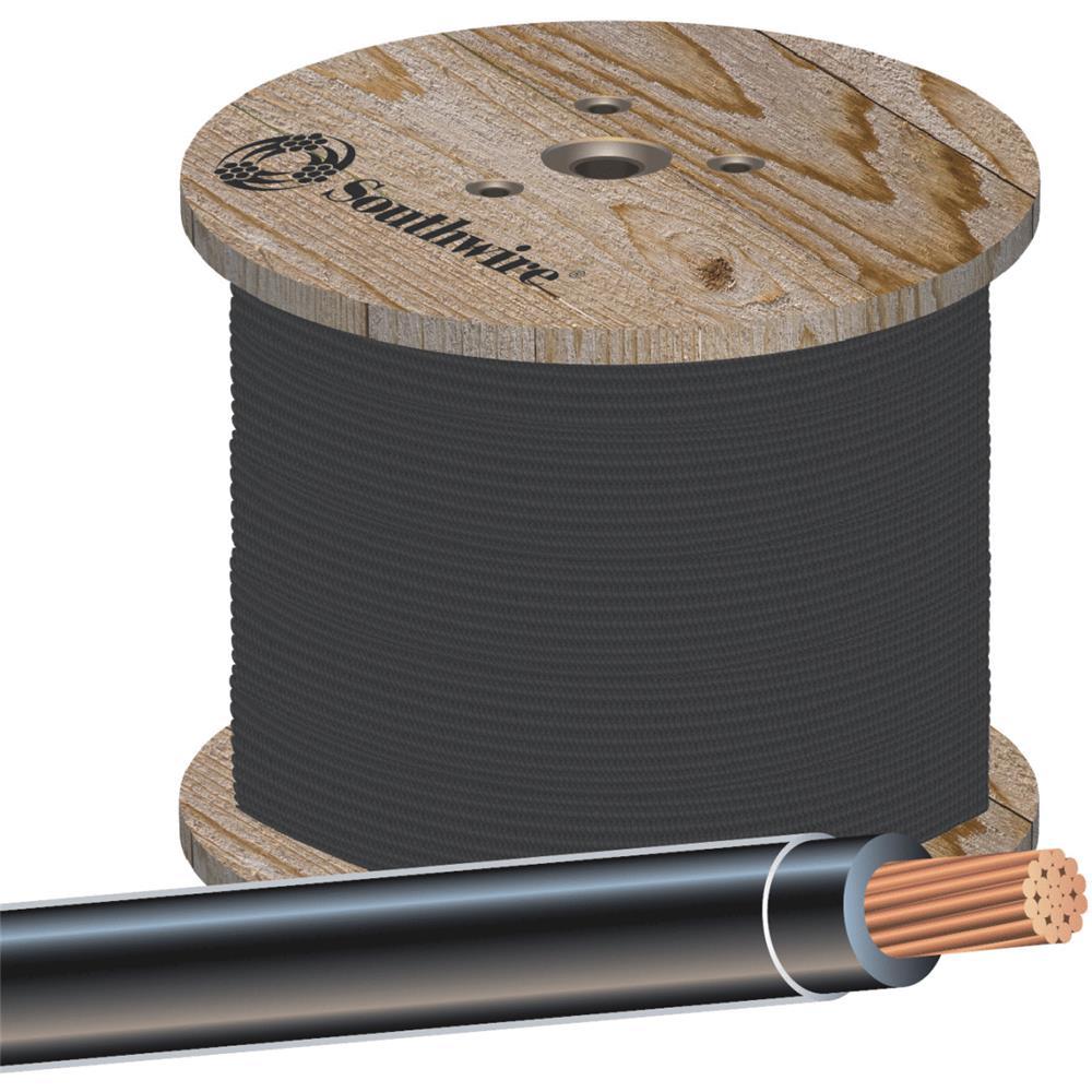 Southwire 500' 14str Black Thhn Wire 22955958