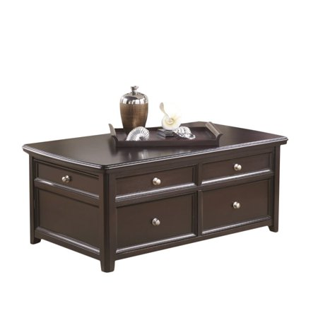 Ashley Carlyle Lift Top Coffee Table in Almost Black - Ashley Carlyle Lift Top Coffee Table In Almost Black - Walmart.com