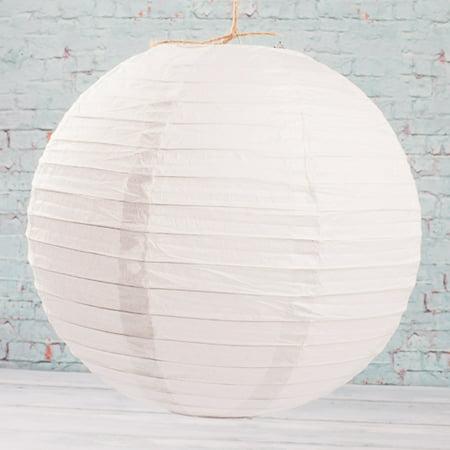 Richland Paper Lanterns Round Chinese White  12