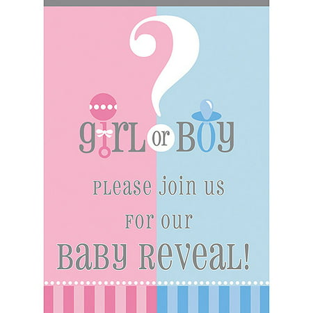 Gender Reveal Party Invitations 8pk Walmart – Party Invitations Walmart