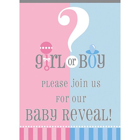 gender reveal party invitations 8pk - Gender Reveal Party Invites